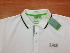 Men's Hugo Boss Green label Polo Shirt Paddy Pro-EDITION WHITE,Size-MEDIUM.