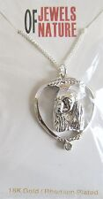 Cavalier King Charles Dog Pendant-Necklace, Rhodium Plated-Crystal-18 inch Chain