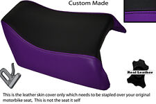 BLACK & PURPLE CUSTOM FITS SUZUKI GSXR 1100 89-98 REAR LEATHER SEAT COVER