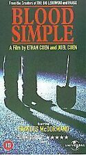 Blood Simple [VHS], Good VHS, John Getz, Frances McDormand, Da, Ethan Coen, Joel