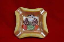 Cendrier en porcelaine peinte japonaise