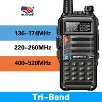 BaoFeng UV-S9 Powerful 8W Tri Band Walkie Talkie Long Range Two Way Radio Black