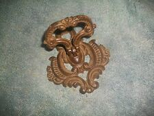 Antique Ornate Cast Iron Door Knocker ~HEAVY~ AUTHENTIC~ARCHITECTURAL SALVAGE