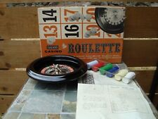 Vintage Casino Roulette H Baron Inc Wheel Board Game & Painted Felt Layout