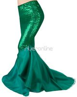 Halloween Women Mermaid Tail Long Skirt Party Maxi Fancy Dress Cosplay Costume