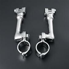 """1.25"""" Motocycle Highway Longhorn Engine Guard Foot Peg Mounts Clamps For Harley"""