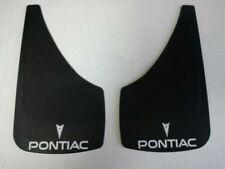 PONTIAC ONE PAIR  Crest + Logo Splash Guards Black White Emblem Car Van SUV