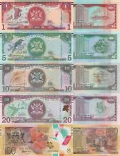 Trinidad 5 Note Set: 1 to 50 Dollars (2006/2017) - p46Ab,p47c,p48c,p49c,p59 UNC