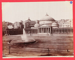 30-ALBUMINA <ITALIA_NAPOLI> Piazza del Plebisoito (G. Sommer) Nº1111 (19x25cm)