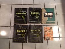 EUCLID engine Maintenance operations Manuals FDT C6 S-7 TS-14 SET OF 6 BOOKS!