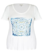 NWT Plus Size Ladies Top / Tunic As Pic Colours Blue & White  Size 14