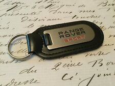 RANGE ROVER SPORT  Key Ring Etched and infilled On Leather