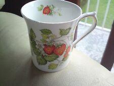 ringtons  mug, fine bone china, STRAWBERRY PATTERN, FLUTED, VGC, FREE-MAILING