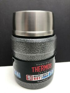 Stainless Steel 16oz Vacuum Insulated Food Jar Gray Hammered w/Spoon by Thermos
