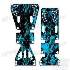 T-Maxx / E-Maxx INTEGY Skid Plate Protectors Digital Flames-Cyan - Traxxas