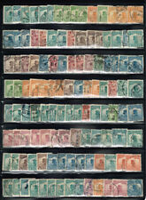 CHINA LARGE LOT OF USED JUNK BOAT STAMPS WITH CANCEL POTENTIAL #3