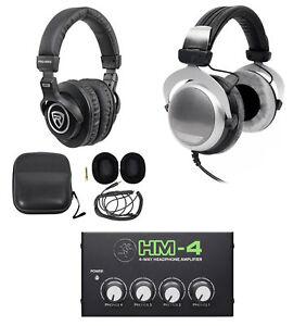 Beyerdynamic DT 880 Premium 600 Ohm Headphones+Mackie Headphone Amp+Headphones
