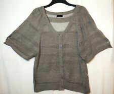 BROWNY GREY LADIES CASUAL LIGHT CARDIGAN TOP SIZE L VERO MODA