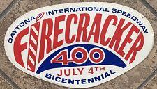 1976 FIRECRACKER 400 BICENTENIAL JULY 4th Sticker DAYTONA NASCAR VINTAGE
