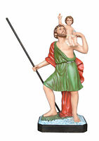 Saint Christopher fiberglass statues cm 120 with glass eyes