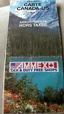 1991 US CANADA Road Map Ammex Tax & Duty Free Shops Brochure East Canadian RARE