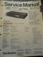 Technics / Panasonic SL-P110  SL-P310 Compact Disc Player   Service Manual