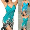 Summer Women Sexy Sling Beach Dress Bikini Cover-ups Wrap Skirts Towel Beachwear