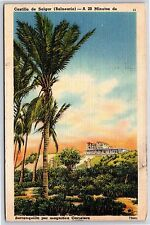 Castillo de Salgar Barranquila por Carretera Colombia Linen Postcard Unused
