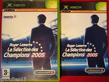 ROGER LEMERRE LA SELECTION DES CHAMPIONS 2005 XBOX MANAGER 2005 XBOX XBOX 360