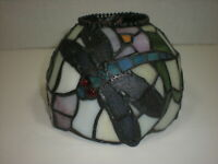 Tiffany Style Art Stained Glass DRAGONFLY Lamp Shade