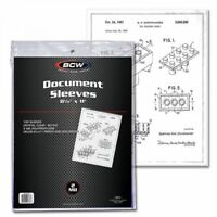 Pack of 100 High Quality BCW 8.5x11 Document Sleeves- 2 mil Poly