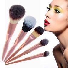 5 piezas Pro Oro Brocha Para Maquillaje Set Sombra De Ojos Kabuki