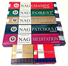 Golden Nag Champa Incense Sticks-Cones Vijayshree (All 7) 5 x Sticks,  2 x Dhoop