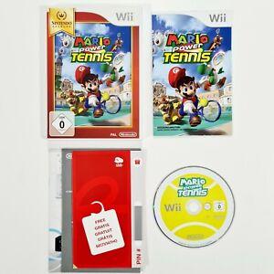 Nintendo Wii Spiel MARIO POWER TENNIS dt. Sport/4-Mehrspieler/Minispiele/Turnier