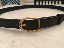 846d207ea39 Men s Gucci Black Leather Gold Buckle Belt Size 40   100 CM Italy