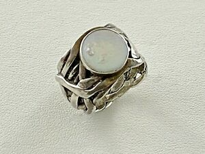 SILPADA Ring Sterling Silver 925 Coin Pearl Mermaid Size 8 R1542 Silverweave#198