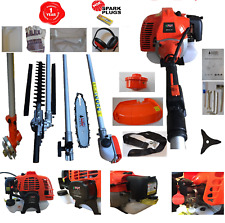52cc Multi Function Garden Tool 5 in1 Petrol Strimer Hedge trimmer chainsaws NGK