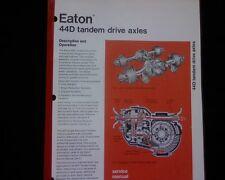 Eaton 44D 44 D,  series tandem Differentail Service Workshop Manual Commer Dodge