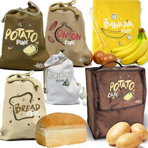 BREAD FRUIT VEGETABLE BAG Kitchen Pantry Food Container Lining Organiser Storage