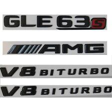Gloss Black GLE63s AMG V8 BITURBO Badges Emblems for Mercedes Benz W166 C292