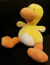 """Nuby Tickle Toes Yellow Duck Plush Stuffed Animal Luv N' Care Soft w/ Sound 11"""""""