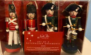 Set Of 4 Nutcracker Ornaments North Pole Trading Co. NIB