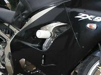 R&G White Classic Style Crash Protectors for Kawasaki ZX9-R F 2003