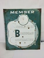 Vintage 1950's Member Consolidation Breeders Cooperative Sign