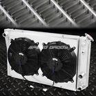FOR 82-90 CORVETTE C4/S10 V8 3-ROW ALUMINUM CORE RACING RADIATOR+PULL FAN SHROUD