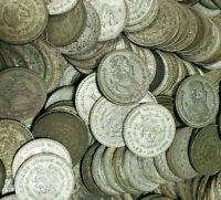 5 LARGE 1957-1967 SILVER MEXICO UN PESO COINS! UN PESO MEXICAN COIN LOT!