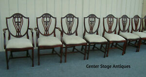 62152 Set 8 Shield back Dining Chairs