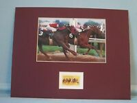 1978 Triple Crown - Affirmed vs. Alydar & stamp for the 100th Kentucky Derby