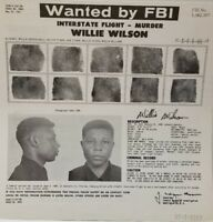 FBI Wanted Poster 1962 WILLIE WILSON Ashburn Georgia Jacksonville Florida