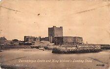 BR79545 carrickfergus castle and king william s landing stone  northern ireland